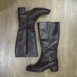 Naturalizer Tall Brown Genuine Leather Boots